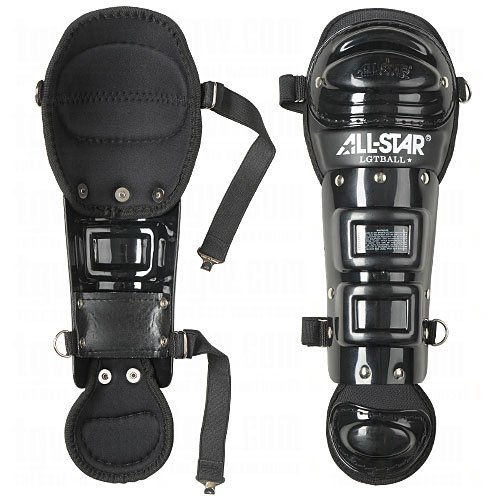 League Baseball Catchers - All Star Youth League Series Tee-Ball Leg Guards Black