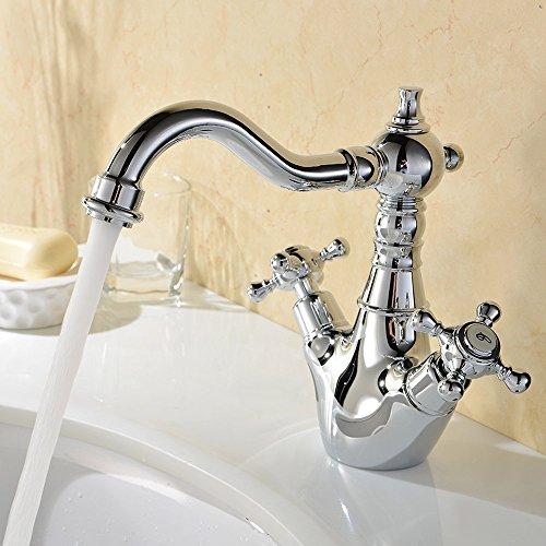 Hiendure ottone ponte montato cucina rubinetto lavabo lavandino rubinetto del bagno bocca - Rubinetto lavandino bagno ...