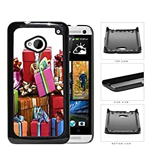 Gift Boxes With Ribbon And Bow Presentation Hard Plastic Snap On Cell Phone Case HTC One M7