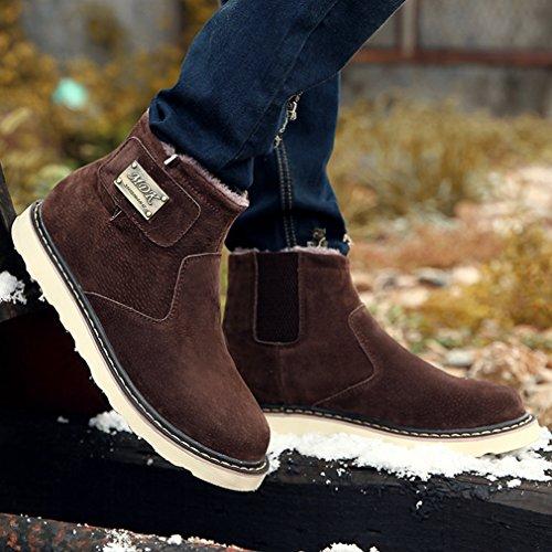 on Chaussure Neige Fourré Hiver Slip Lfeu Confortable Bottes Homme Chaud Brun 38 De 44 FHx8wq