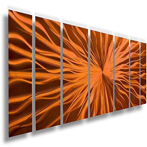 Fire Orange - Cosmic Energy copper wall art - Copper wall decor