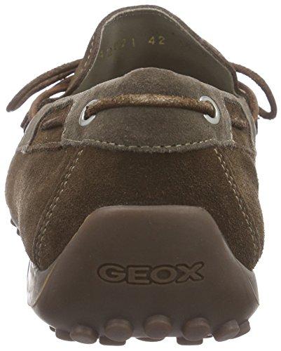 Geox U Snake Moc. I - Mocasines para hombre Marrón (CIGAR/DOVE GREYC6L1B)