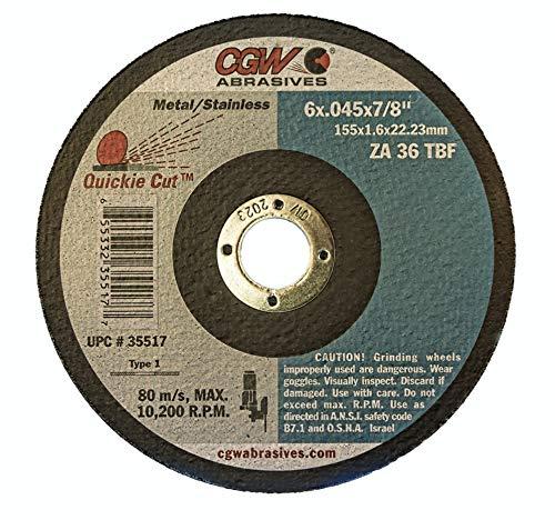 "Cut-Off Wheels 4-1//2/"" x .045/"" x 7//8/""  ZA60-S Type 27 Qty 25-45002 CGW Camel"