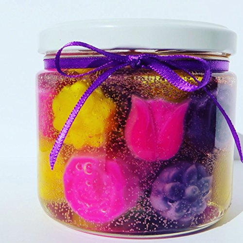 - J. Lynn Collection 'Spring Blossoms' Sweet Pea Scented Gel Candle. Great for Mother's Day, Gifts, Weddings, Anniversary, or Decoration (1)