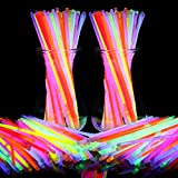BOBOO Glow Sticks 200 Pcs 8' Glow Bracelets-Glow in The Dark Perfect for Party, Concerts,Halloween, Glow Party (200pcs)
