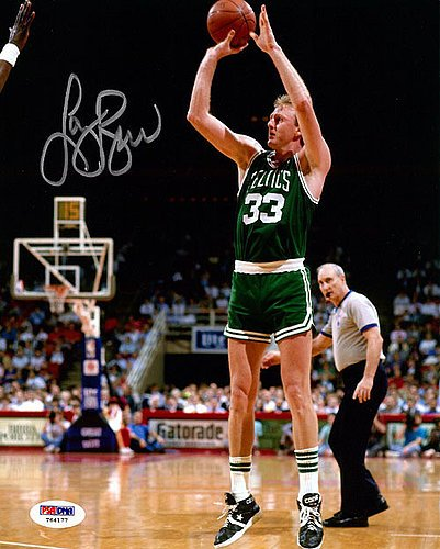 Larry Bird Signed 8x10 Photo Boston Celtics - PSA/DNA Authentication - NBA Basketball Photos