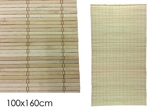 GIRM® GE633822 Tenda in bamboo naturale con carrucola Beige 100x160 cm GENERAL TRADE