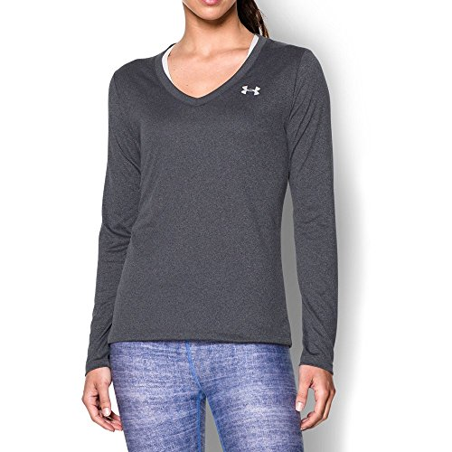 under-armour-womens-tech-long-sleeve-carbon-heather-metallic-silver-medium