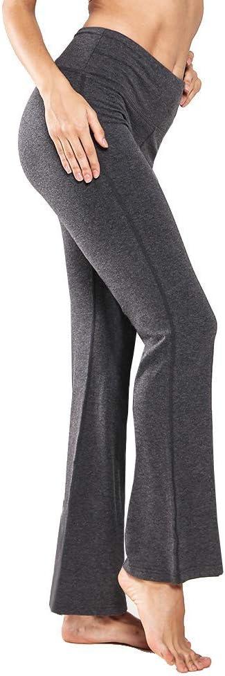 Ogeenier Pantalones de Yoga de Mujer Pantal/ón de Pilates de Cintura Alta Yoga Gimnasio Running Training