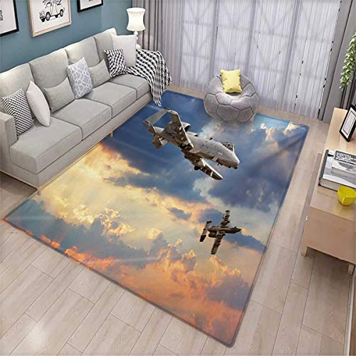 (Airplane Girls Bedroom Rug Peacekeepers Mission Jet Up International Military Force Combat Flight Picture Bath Mats for Floors 6'6