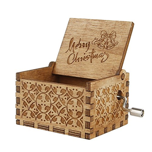 Holiday Music Box (Engraved Wooden Music Box Personalizable