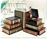 MYITIAN Multifunctional Antique Vintage Book Box Jewel Box Fake Book Props Props Models Simulation Book Book Book Books Box-A