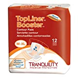 Tranquility TopLiner® Disposable Absorbent Booster Contour Pads for Bowel Incontinence - Contour (21.5'' x 13.5'') - 240 ct