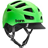 Bern Unlimited Allston Helmet with Black Flip Visor, Matte Neon Green, Small/Medium For Sale