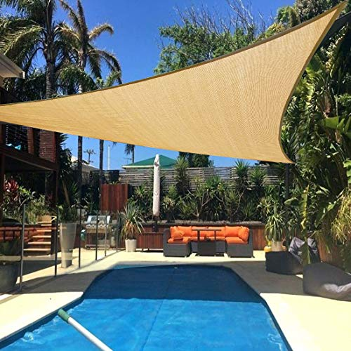 Artpuch Sun Shade Sail 20' x 20' x 20' Sand Cover for Patio Outdoor Triangle Canopy Backyard Shade Sail for Garden Pool Playground