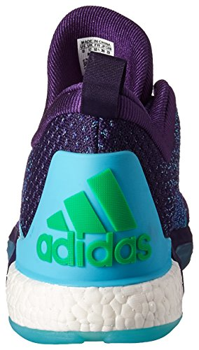 Adidas Performance Men's Crazylight Boost 2.5 Low Basketball Shoes,Dark Purple/Blue/Shock Pink,11.5 M US