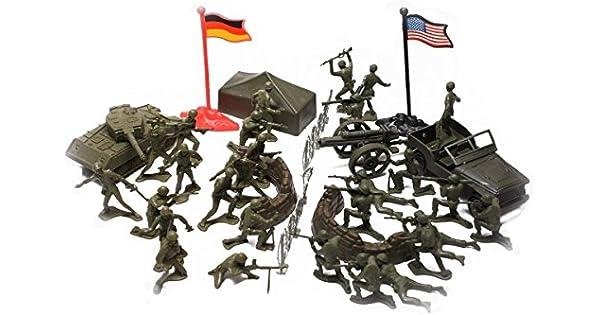 hombres artillería, ejército 40 piezas de plástico accesorios juegos