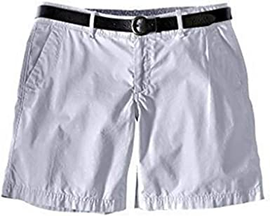 Shorts Bermudas Mujer de Eddie Bauer - algodón, Gris Azulado, 100 ...