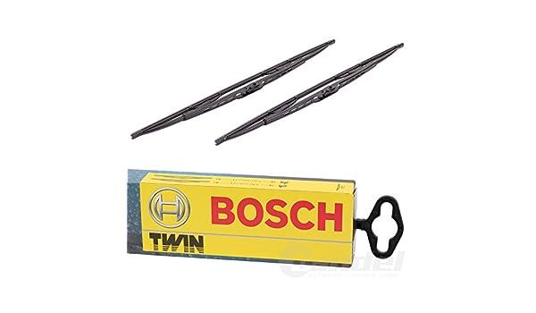 Conjunto de limpiaparabrisas gemelo delantero (400 mm) de Bosch: Amazon.es: Coche y moto