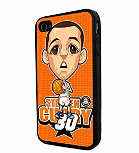 NBA Golden State Warier Cartoon Stephen Curry , Cool iphone 6 / Smartphone Case Cover Collector iphone TPU Rubber Case Black