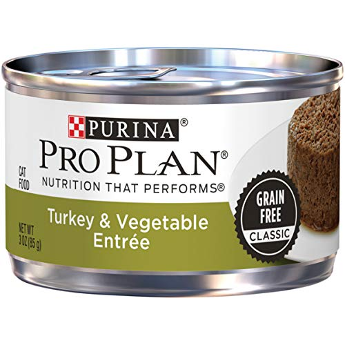 Purina Pro Plan Grain Free Pate Wet Cat Food; Turkey & Vegetable Entree - 3 oz. Pull-Top Can (Pack of 24)