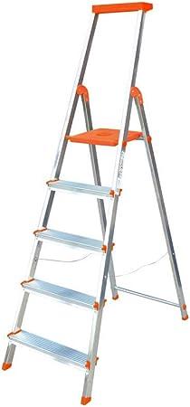 Escalera Rolser Aluminio BriColor 5 Peldaños - Mandarina: Amazon.es: Hogar