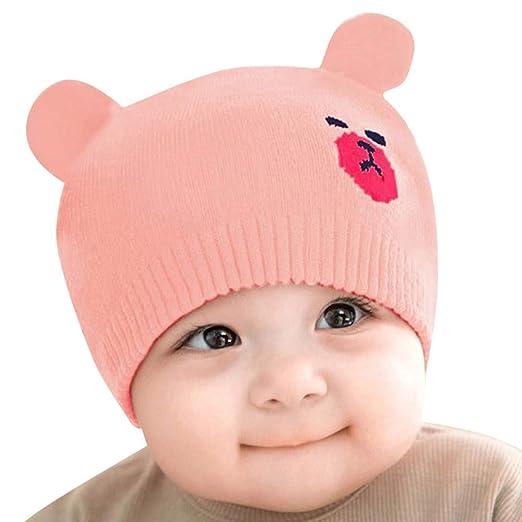 e3bd261d Amazon.com: Hauzet Newborn Kids Crochet Beanie Hat Cute Baby Boy Girl  Cartoon Warm Knit Cap Winter (Style C, 0-12 Months): Clothing