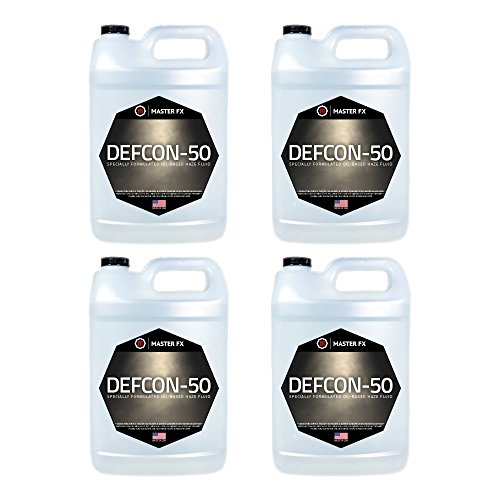 Dee-Eff-50 - Oil-based Haze Fluid for Df-50 - Diffusion Haze Machine - 4 Gallon Case by Master FX, Inc.