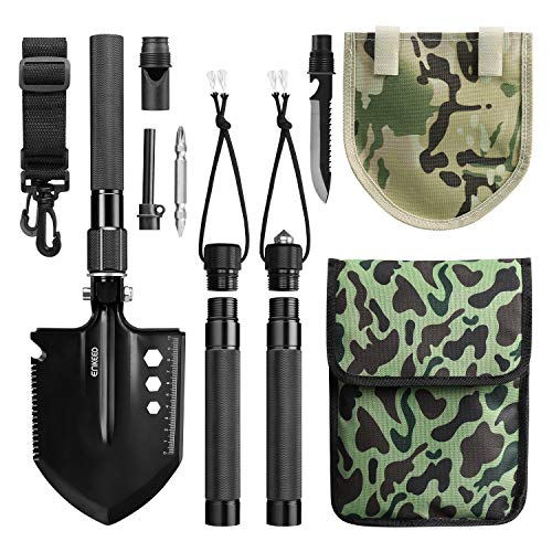 ENKEEO Military Folding Shovel Multitool for Scout, Hiking, Backpacking, Adventure Cycling, Dry Camping, Trenching, Emergency and Survival by ENKEEO (Image #8)