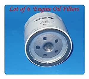 Lot Of 6 Engine Oil Filter Service Pro