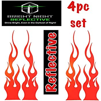 Phoenix flame fire vinyl graphic decal motorcycle go kart race car decal set