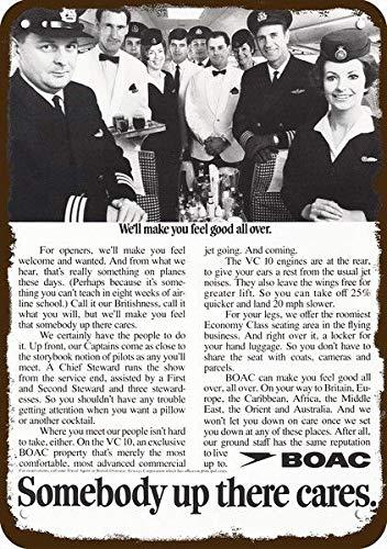 Yilooom 1969 Boac Airlines Captain Pilot Stewardess