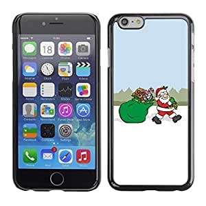 YOYO Slim PC / Aluminium Case Cover Armor Shell Portection //Christmas Holiday Santa Gift Bag 1238 //Apple Iphone 6 Plus 5.5