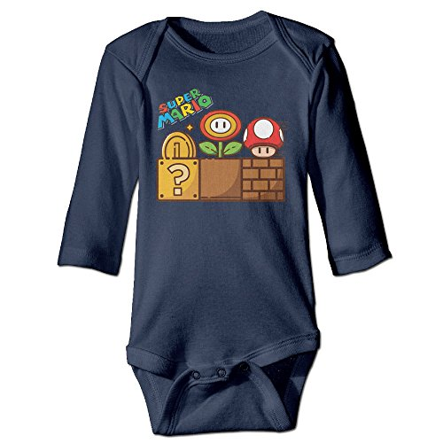 Super Mario Mushroom Gold Flower Baby Long Sleeve