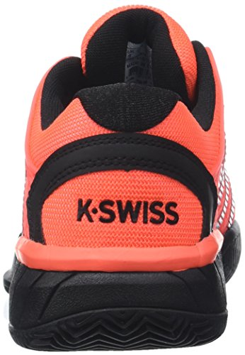 K-Swiss Performance Men's Hypercourt Express Hb Tennis Shoes, Orange Orange (Neon Blaze/White/Black 816m)