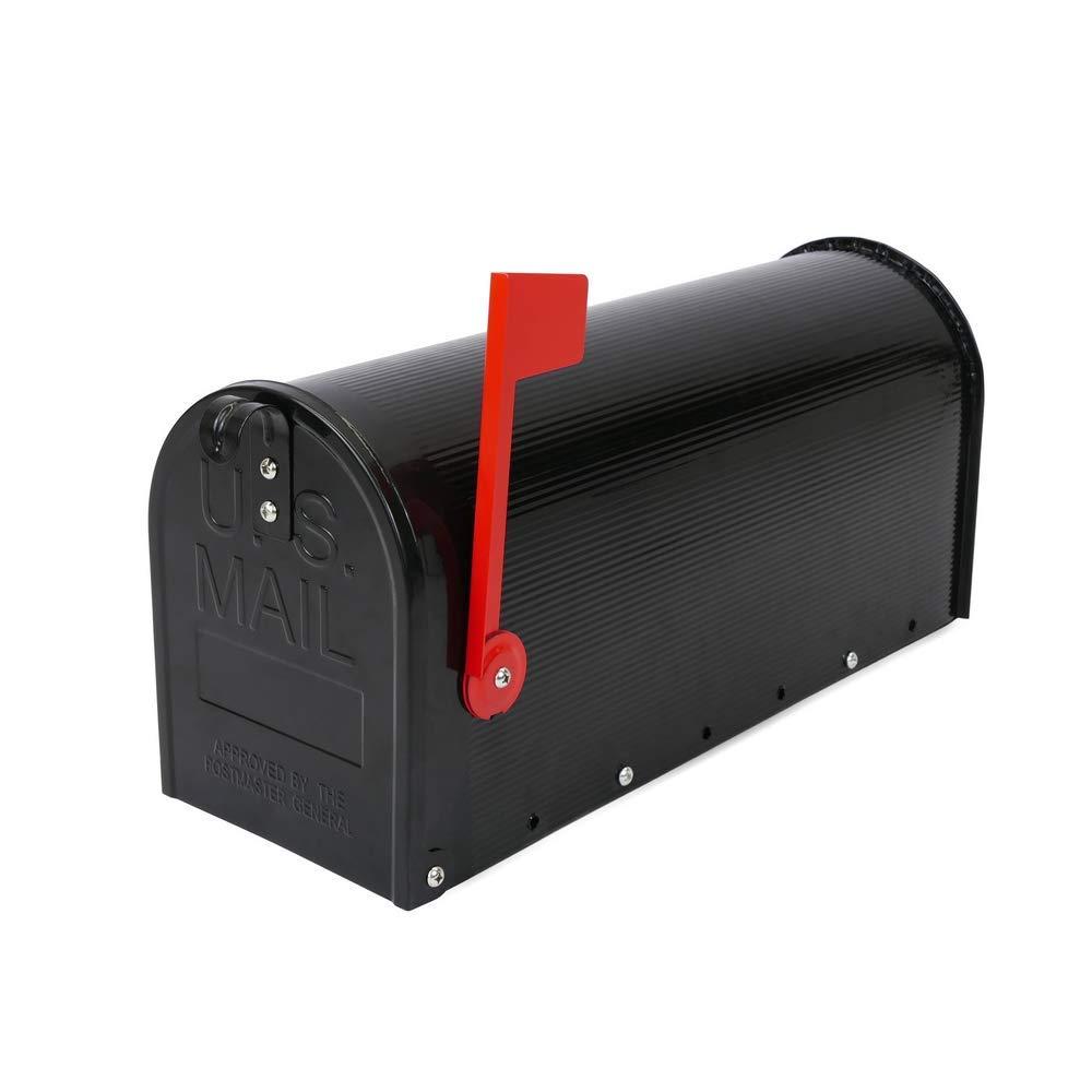 PrimeMatik - Buzón US Mail de Aluminio para Correo Postal Americano Negro product image