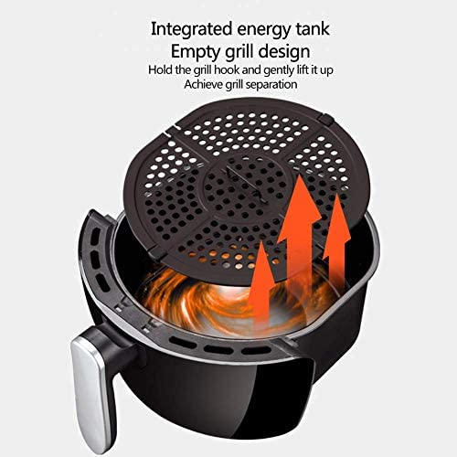 4.0L Air Frye 1400W Hete lucht circulatie Fries Elektrische Fryer 4-5 People Timer en traploze temperatuurregeling zorgt voor een gezonde No Frituren Non-Stick Pan