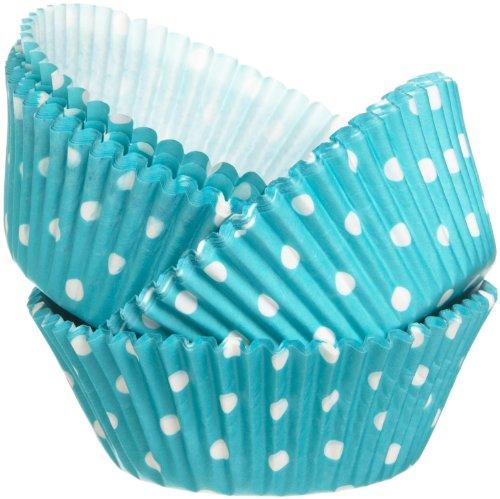 wilton baking cup blue dots - 3