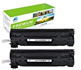 Aztech 2 pack Toner Cartridges Replace Canon 137 9435B001 Cartridge 137 Black 2400 Pages Yield Used for Printers MF212w MF216n MF227dw MF229dw MF211 MF212w MF216n MF217w MF226dn MF229dw