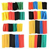 Daxiers 328Pcs 8 Sizes Assortment 2:1 Heat Shrink Tube Tubing Sleeve Wrap Wire