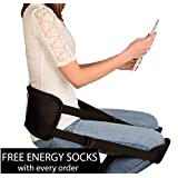 Back Support Brace Ergonomic Sciatica & Back Pain Relief Free Energy Socks with Back Support Belt for Better Back by iSupportPosture