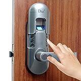 Digi Electronic Biometric Fingerprint + Keypad Password Door Lock Set 98 Chrome (Right Hand Door)