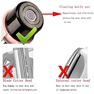 Women Shaver,Ckeyin Advanced Close Hair Removal Wet & Dry Cordless Ladies Electric Shaver,Best Hair Epilator & Razor Perfect for Face/ Leg/ Hand/Bikini/Armpit,Shave Closely,Safely & Comfortably
