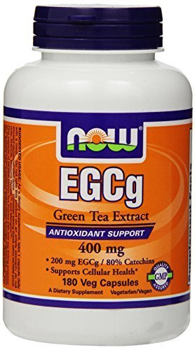NOW Foods EGCg, Green Tea Extract, 400mg, 180 Vcaps (Pack of 3)