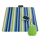 Digibig Picnic & Outdoor Blanket, Sandproof & Waterproof Camping Blanket, Grass & Beach Blanket, Handy Mat and Portable Carpet 77'' X 57'', Free Storage Bag with Backpack by