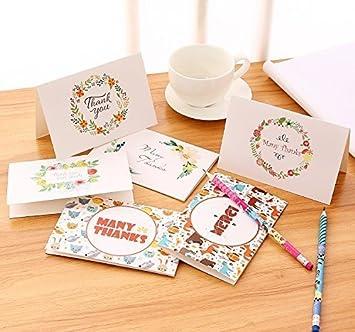 thank you cards ohuhu 48 thank u card of 6 designs folded cards design