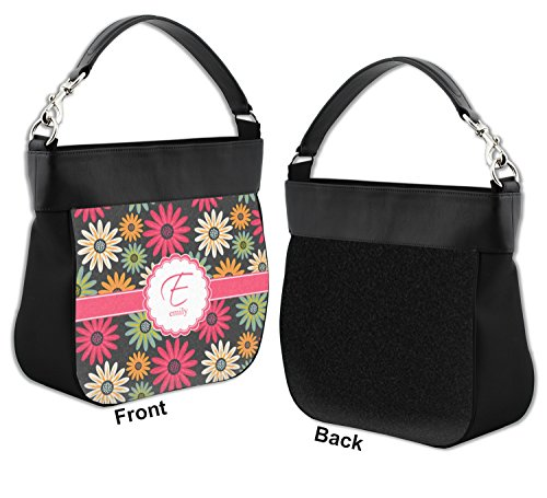Daisies Hobo Front Purse Genuine Trim Personalized Leather w 11Urdxzq