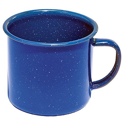 Texsport 24 Oz. Blue Enamel Coffee Cup - Coffee Enamel Cup
