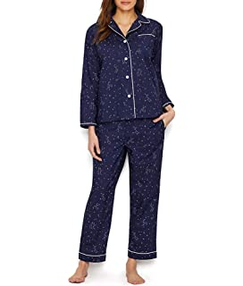 d3a8f808f2d6 Sleepy Jones Women s Large Gingham Bishop Pajama Set at Amazon ...
