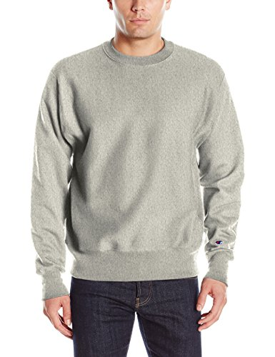 Champion Life Mens Reverse Weave Sweatshirt  Oxford Gray  L